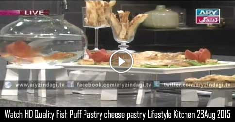 Fish In Puff Pastry – cheese with puff pastry- Lifestyle Kitchen 28th August 2015