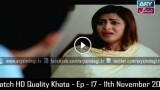 Khata – Ep – 17 – 11th November 2015 Full Episode