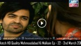 Mehmoodabad Ki Malkain Ep – 22 – 2nd March 2016