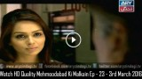 Mehmoodabad Ki Malkain Ep – 23 – 3rd March 2016