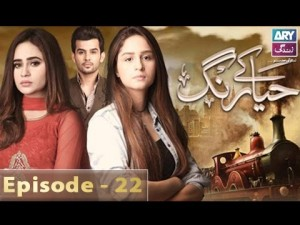 Haya Kay Rang – Episode 22 – 24th January 2017