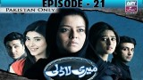 Meri Ladli – Episode 21 – 9th January 2017
