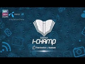 Telenor I-Champ – ARY Zindagi – 28th April 2018