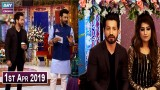 Salam Zindagi With Faysal Qureshi – 1st April 2019