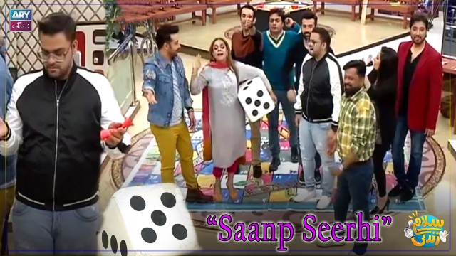 Aadi, Faizan & Faysal Qureshi Playing Saanp Seerhi With Guest