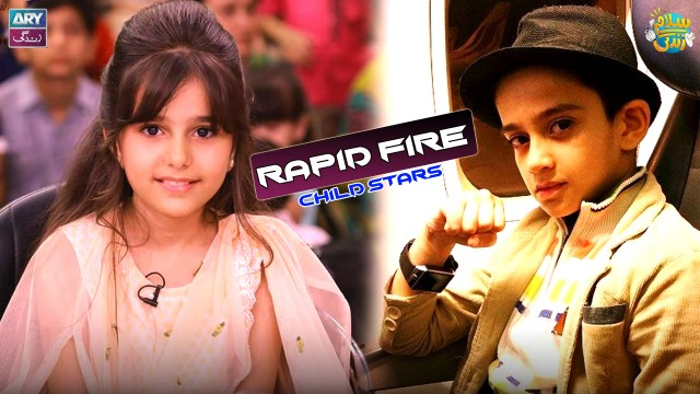 Rapid Fire With Child Stars Of Pakistan Showbiz Industry