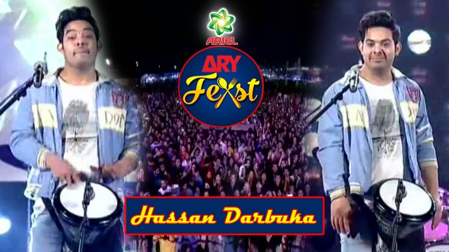 Once Again Hassan Darbuka's  Live Perfomance With Amazing Crowd Of ARY Feast Karachi.